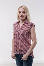 Блуза жіноча з шифону без рукава, рожева (р. 44-46)