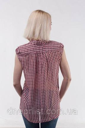 Блуза женская из шифона без рукава, розовая (р. 44-46), фото 2