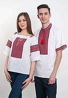 Парные  вышиванки белые ( машинная вышивка)