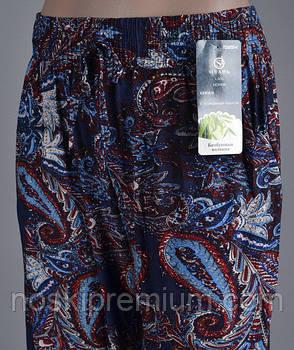 Cултанки, брюки женские цветные бамбук Олань, с карманами, размер L-2XL (48-52), 009-1