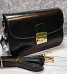 Женский черный клатч, фото 4