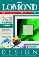 Бумага Lomond Premium матовая Лен, 230 г/м, А4/10 листов код 0933041
