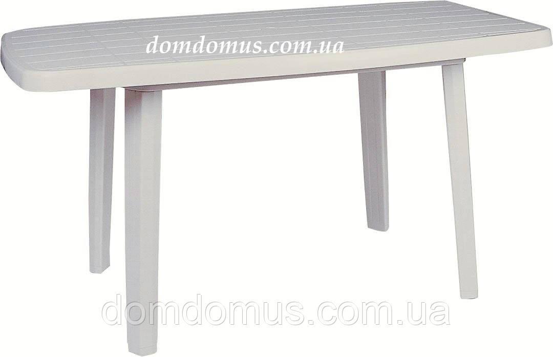 Стіл прямокутний пластиковий 80*140 см Sitsta, Туреччина, білий