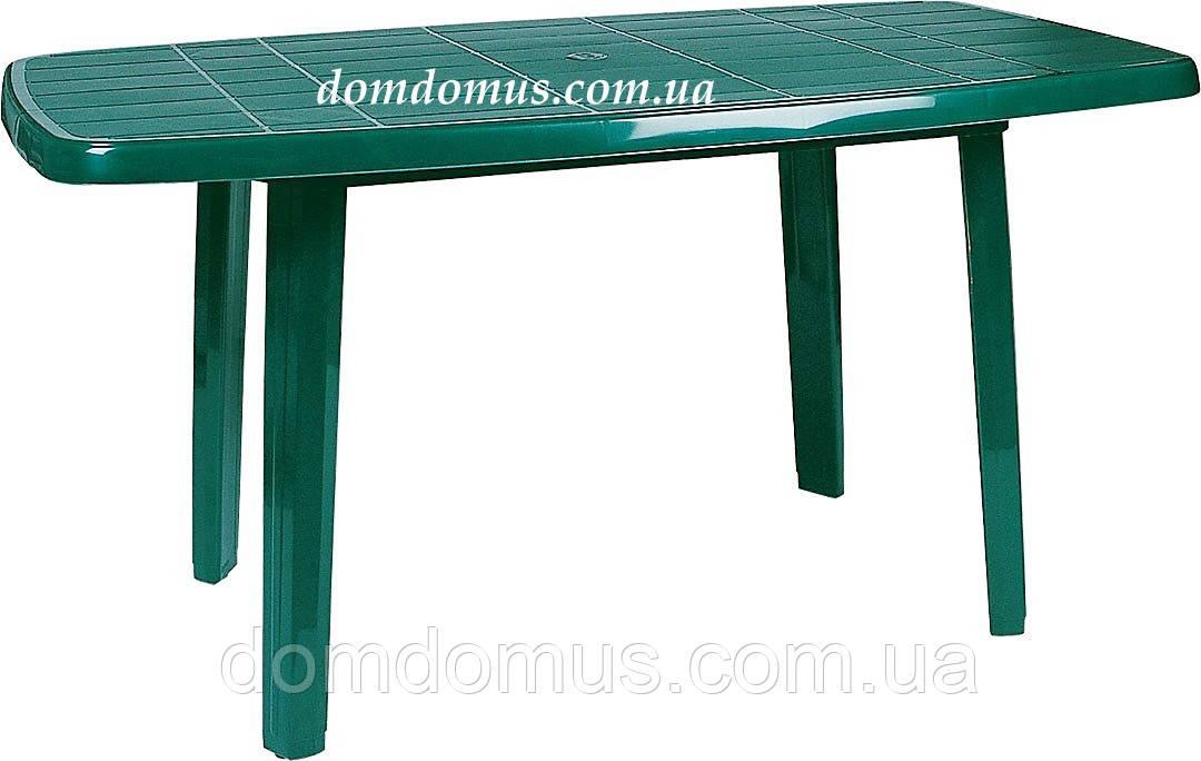 Стол пластиковый прямоугольный 80*140 см Siesta, Турция, зеленый