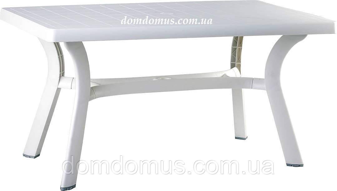 """Стол пластиковый прямоугольный """"Roma"""" 80*140 см Siesta, Турция, белый"""