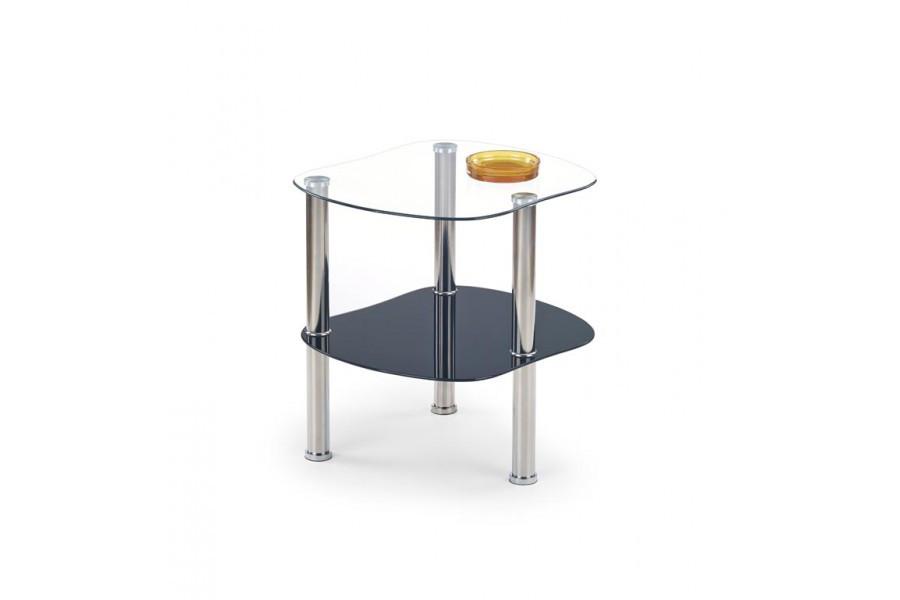 Журнальний кофейний стіл зі скла у вітальню Arya szkło czarne Halmar