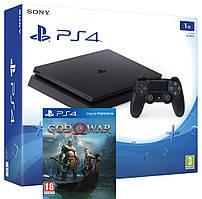 Игровая приставка Sony PlayStation 4 Slim 1TB + игра God of War 4