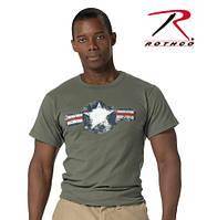 Футболка  ROTHCO  VINTAGE ARMY AIR CORP OLIVE DRAB   ROTHCO USA