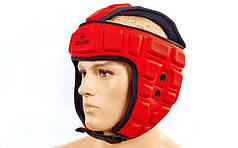Шлем для тхэквондо ZEL  (EVA, нейлон, красный, р-р M-XL)