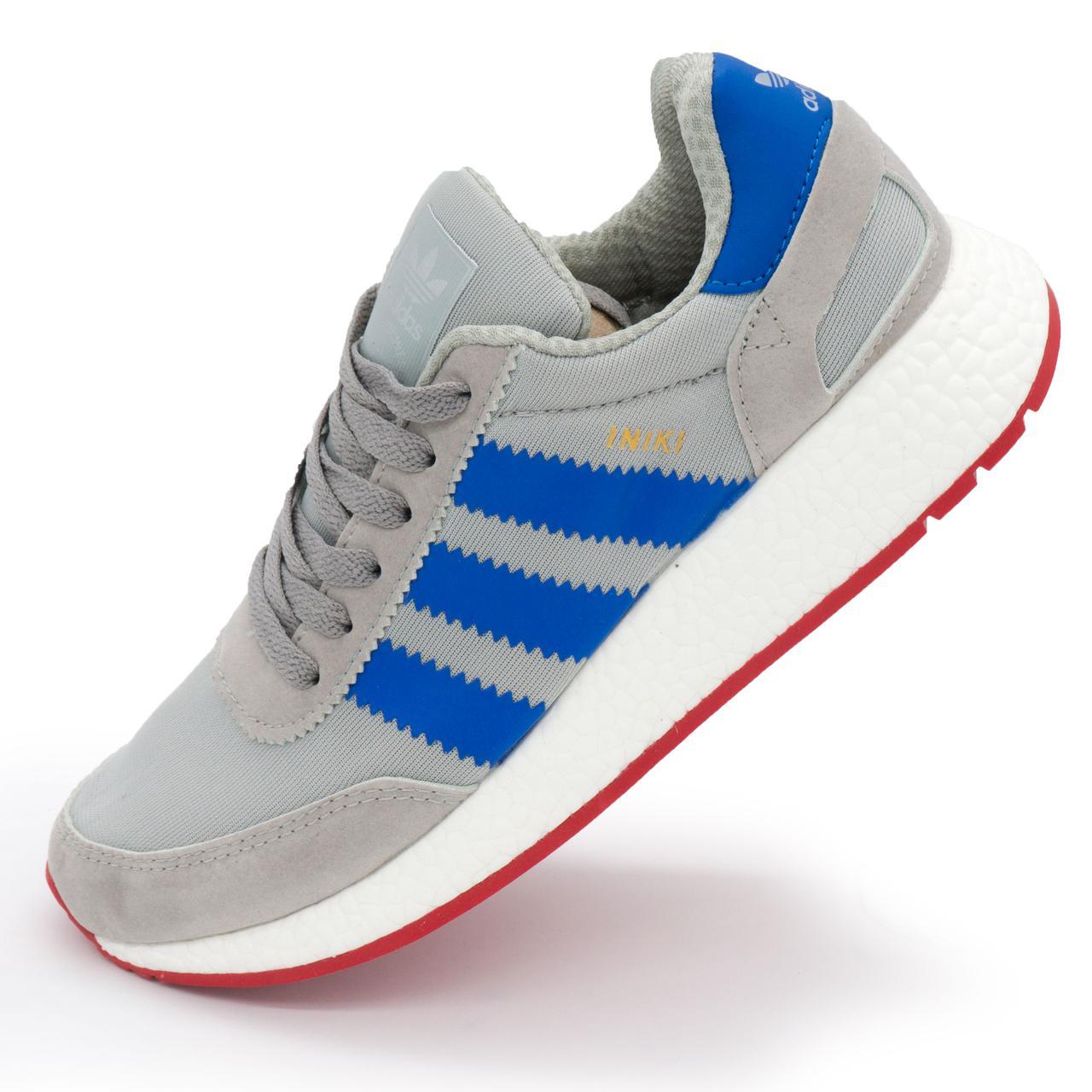 6a32b4d5 Кроссовки для Бега Adidas Iniki Runner Серые с Синим Р.(40) — в ...