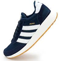 Кроссовки для бега Adidas Iniki Runner синие с белым №2 - Реплика р.(39, 40, 41, 42, 44)