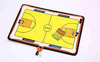 Доска тактическая баскетбольная  (р-р 42см x 28,5см, планшет на молнии, фишки, маркер )