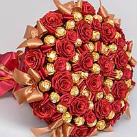 Большой букет из конфет Ferrero Rocher № 28 (на свадьбу, для шефа, на годовщину) Солидный подарок