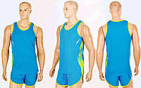Форма для легкой атлетики мужская  (полиэстер, р-р XL-4XL, синий)