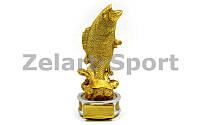Статуэтка (фигурка) наградная спортивная Рыбалка Рыба золотая  (р-р 19х8х7, 5 см)