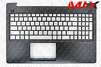 Клавиатура ASUS N550 Серебристая топкейс+подсветка