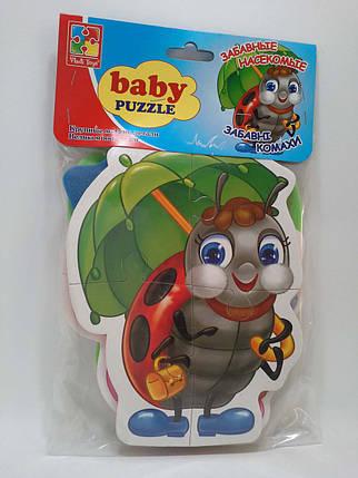 Гра VladiToys Пазли Baby puzzlе VT1106-06 Забавні комахи ІЛ-210, фото 2