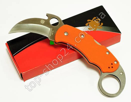 Нож Керамбит / карамбит SPYDERCO складной оранжевого цвета