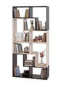 Стеллаж для дома модульный из ДСП может быть и тумбой и этажеркой очень удобный для хранения вещей.