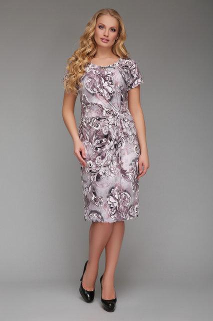 Летнее платье большого размера Бэлла 50-58р