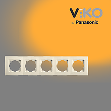П'ятірна горизонтальна рамка VIKO Linnera Крем