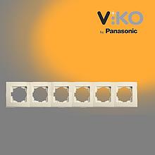 Шестерніa горизонтальна рамка VIKO Linnera Крем