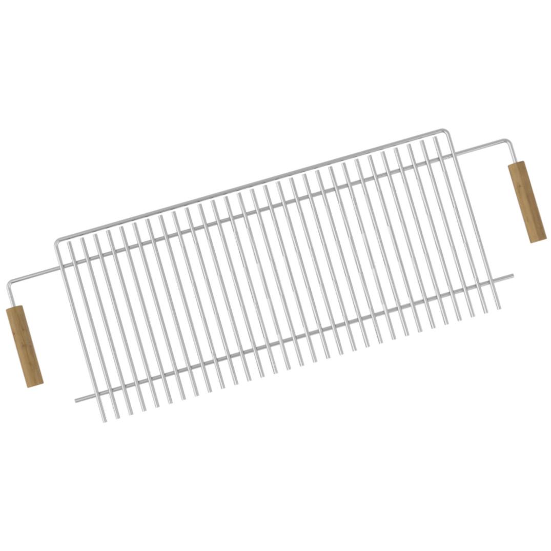 Решетка-гриль со складными ручками 28х80см (толщина прутьев - 6 мм) для мангала на 10 шампуров Mousson R10