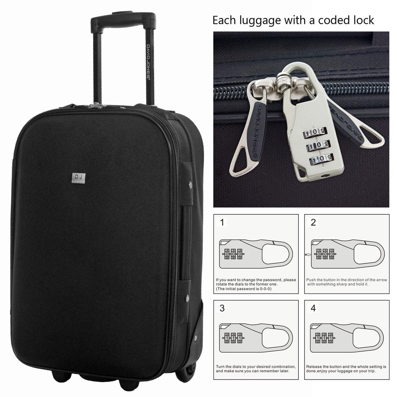 7ac61e180ab0 МАЛЕНЬКИЙ ЧЕМОДАН DAVID JONES 4010 черный ручная кладь - Интернет-магазин  чемоданов и дорожных сумок