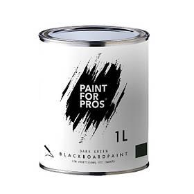 Грифельная краска зеленая BlackboardPaint 1 л 5 кв.м
