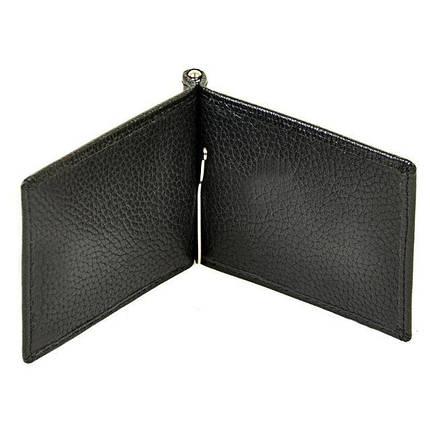 Чоловічий гаманець з затиском з натуральної шкіри Dr. Bond Classic. Шкіряний гаманець - затискач., фото 2
