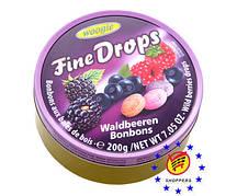 Леденцы Fine Drops Woogie со вкусом лесных ягод, 200 г