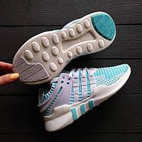 Кроссовки голубые трикотажные легкие дышащие Adidas Equipment (EQT)