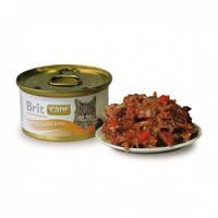 Консервы Brit Care Cat для кошек тунец, морковь, горох  80 гр.