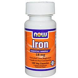 Хелат заліза NOW Foods Iron 36 mg 90caps