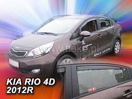 Дефлекторы окон (ветровики)  Kia Rio 2012R.-> SEDAN 4шт (Heko)