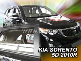 Дефлекторы окон (ветровики)   Kia Sorento 2009-> 4шт (Heko)