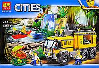 """Конструктор Bela """"Передвижная лаборатория в джунглях"""" (аналог Lego City 60160), 465 дет"""