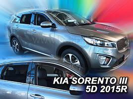 Дефлекторы окон (ветровики)  Kia Sorento 2015-> 4шт (Heko)