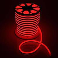 Светодиодный неон гибкий Красный 12В (кратность резки 2,5см)