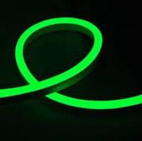 Светодиодный неон гибкий Зеленый 12В (кратность резки 2,5см)