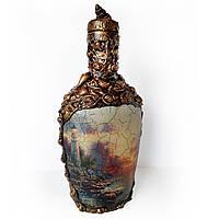 Морской сувенир Декор бутылки в подарок моряку Море спокойствия, фото 1