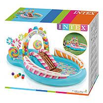 """Водный игровой центр """"Candy Zone Play Center"""" Intex  57149 295х191х130 см, с шариками, горкой и фонтаном, фото 3"""