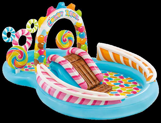 """Водный игровой центр """"Candy Zone Play Center"""" Intex  57149 295х191х130 см, с шариками, горкой и фонтаном"""