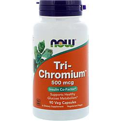 Хром NOW Foods Tri-Chromium 500mcg with Cinnamon 90 caps