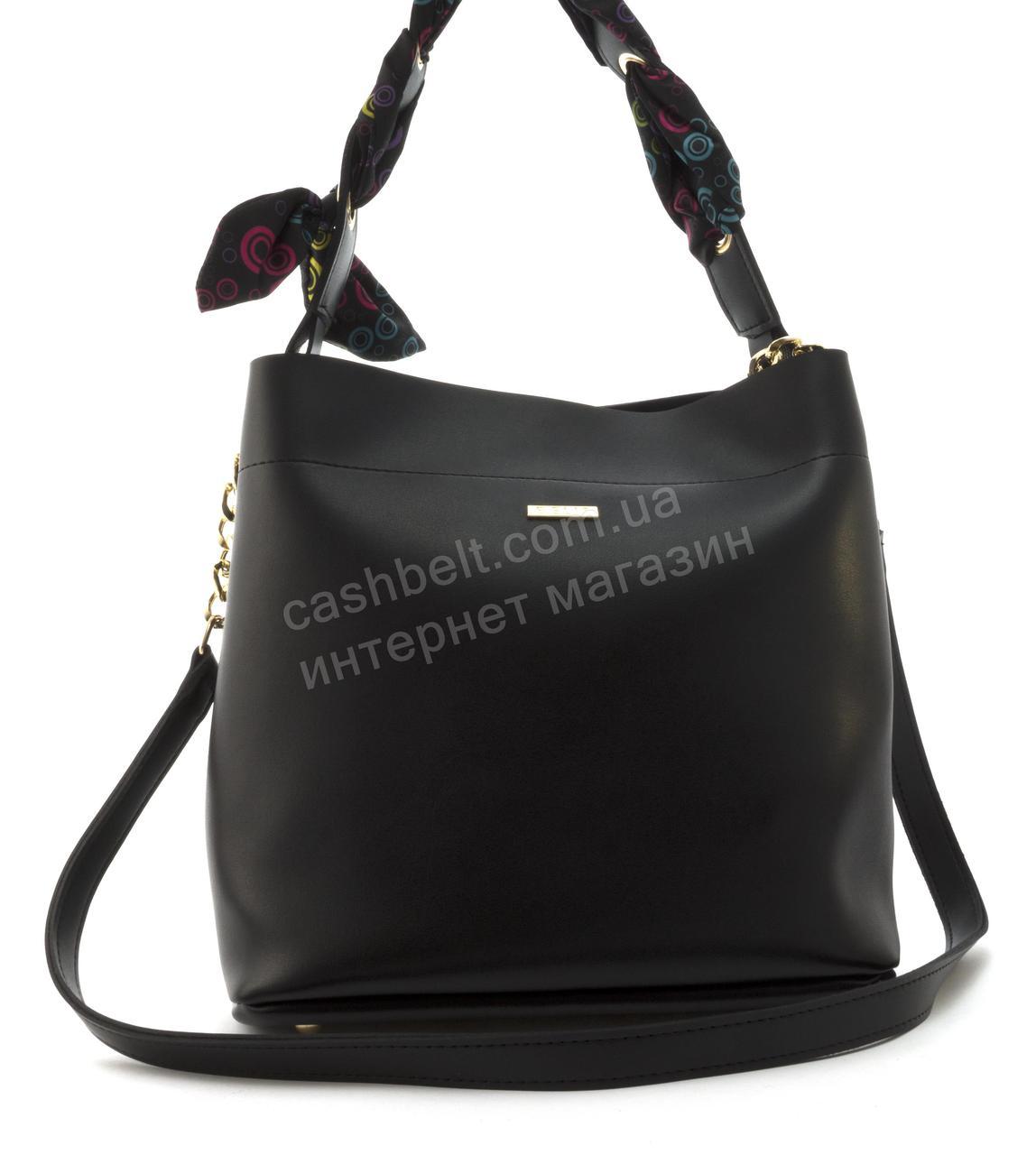 Оригинальная качественная суперстильная сумка с эко кожи очень высокого качества B.Elite art. 08-15 черная