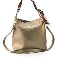 Оригинальная качественная суперстильная сумка с эко кожи очень высокого качества B.Elite art. 08-15 золотистая, фото 1