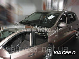 Дефлекторы окон (ветровики)  Kia Ceed 2006-2012 5D  4шт (Heko)