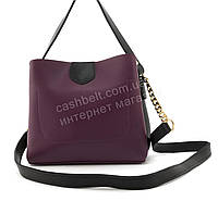 Небольшая вместительная женская стильная сумочка из эко кожи B. Elit art. 08-20 фиолетовая, фото 1