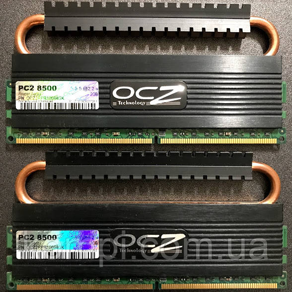 4Gb Kit (2x2Gb) OCZ DDR2 PC2-8500 1066MHz оперативка под Intel и AMD
