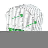 Inter Zoo Megi из цинка Клетка для попугаев и птиц маленьких пород (430*250*470 мм)